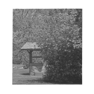 By the Wishing Well-horizontal Notepad