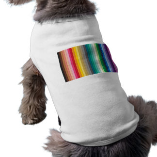 BYB2 SOLID STRIPES WALLPAPER BACKGROUNDS COLORFUL SLEEVELESS DOG SHIRT