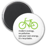 Bycicle: Modern Ecology 6 Cm Round Magnet
