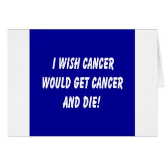 Bye Bye Cancer Card
