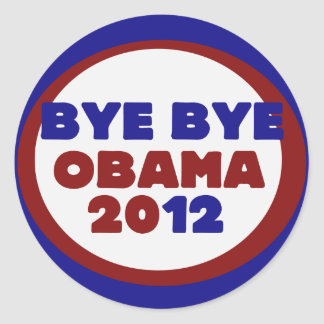 Bye Bye Obama Classic Round Sticker