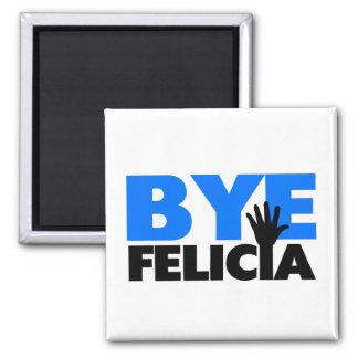 Bye Felicia Hand Wave Bold Blue Magnet