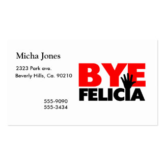 Bye Felicia Hand Wave Business Card Templates