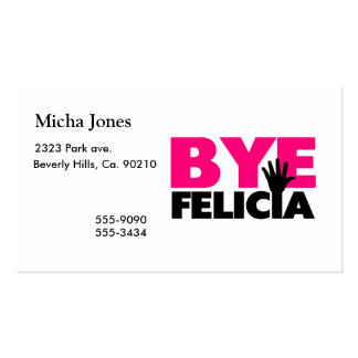 Bye Felicia Hand Wave Hot Pink Business Card Templates