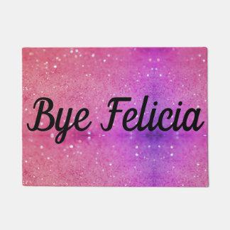 Bye Felicia Pink Glittery Background Door Mat