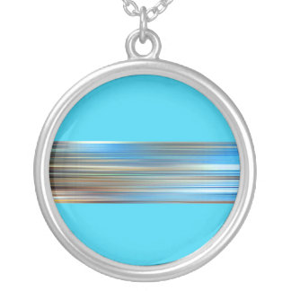 Bye the sea silver plated necklace
