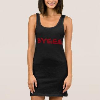 BYEE Red&Black Women's Jersey Tank Dress