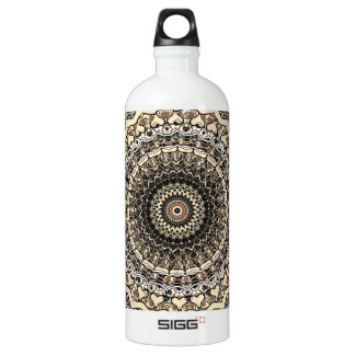 Bygone Love Mandala Kaleidoscope Pattern Water Bottle