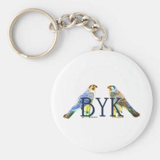 BYK - Egyptian Falcon Basic Round Button Key Ring