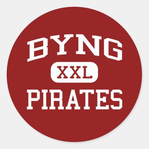 Byng - Pirates - Junior High School - Ada Oklahoma Round Sticker