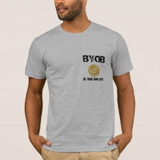 BYOB Be Your Own Bank - Bitcoin tshirt & qr code