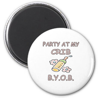 BYOB  Girl 6 Cm Round Magnet