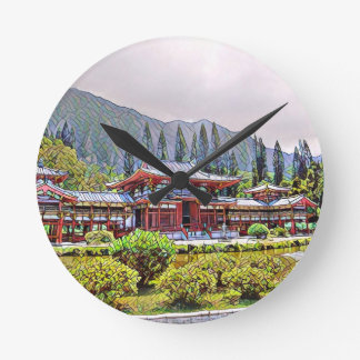 Byodo-In Temple Oahu Wall Clock