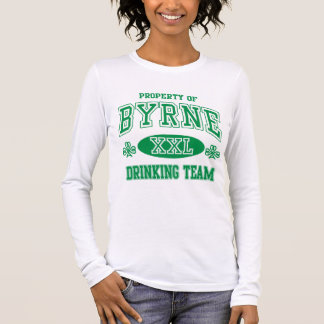 Byrne Irish Drinking Team Long Sleeve T-Shirt