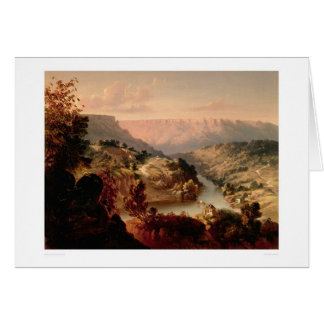 Byrnes Ferry on the Stanislaus River (0707A) Greeting Card