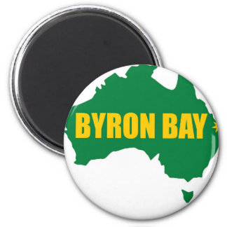 Byron Bay Green and Gold Map Magnet