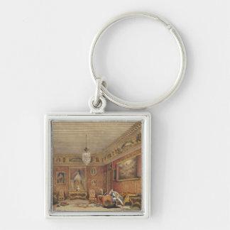 Byron's Room in Palazzo Mocenigo, Venice (w/c on p Silver-Colored Square Key Ring