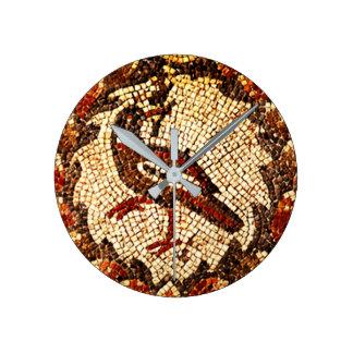 Byzantine Bird Round Clock