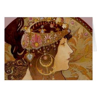 Byzantine Brunette, 1897 Card