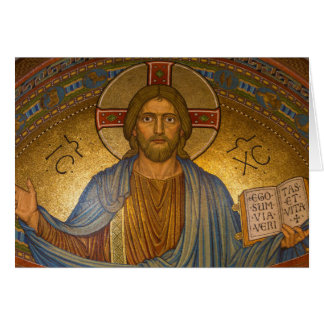 Byzantine Christ Jesus greeting card