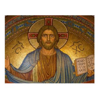 Byzantine Christ Jesus postcard