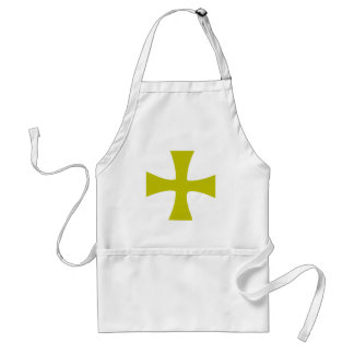 Byzantine Cross of Gold Adult Apron