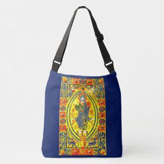 Byzantine folk art Jesus Crossbody Bag