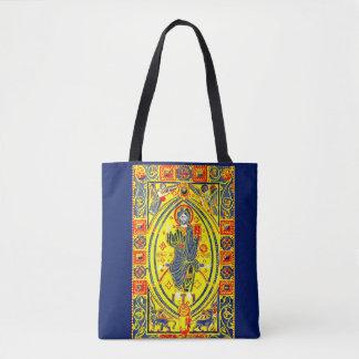 Byzantine folk art Jesus Tote Bag