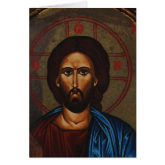 Byzantine Greek Orthodox Icon JESUS CHRIST Card