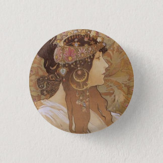 Byzantine Head: Brunette 3 Cm Round Badge