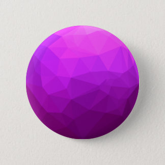 Byzantine Purple Abstract Low Polygon Background 6 Cm Round Badge