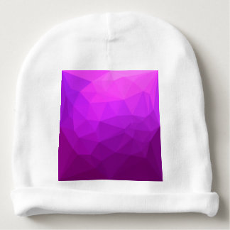 Byzantine Purple Abstract Low Polygon Background Baby Beanie