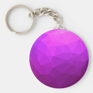 Byzantine Purple Abstract Low Polygon Background Key Ring