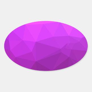 Byzantine Purple Abstract Low Polygon Background Oval Sticker