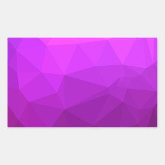 Byzantine Purple Abstract Low Polygon Background Rectangular Sticker