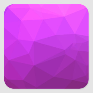 Byzantine Purple Abstract Low Polygon Background Square Sticker