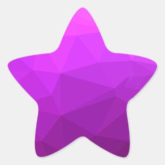 Byzantine Purple Abstract Low Polygon Background Star Sticker