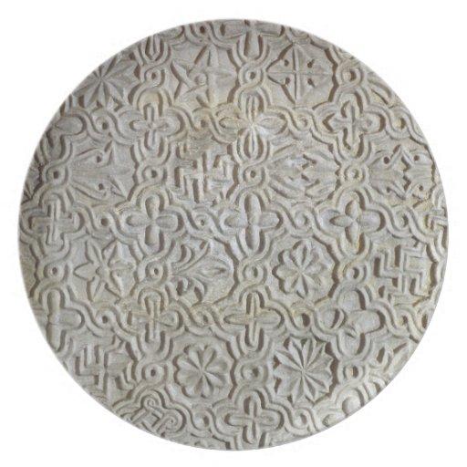Byzantine slab with cruciform decoration, 12th-14t dinner plates