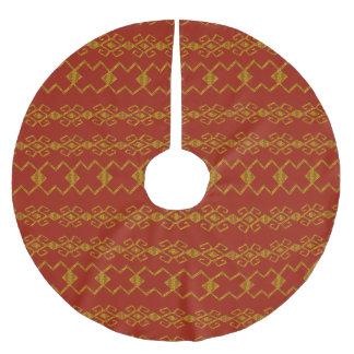 Byzantium Red & Gold Brushed Polyester Tree Skirt