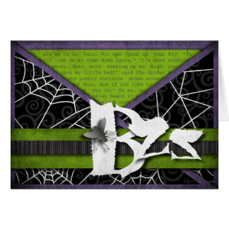 Bzz Gross Flies and Spider Webs for Halloween Greeting Card