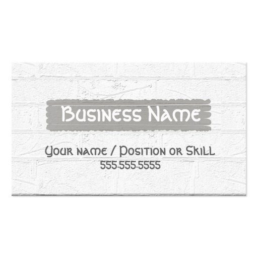 C001 BIZ wht - Brick Layer/Stonemason Textured Pack Of Standard Business Cards