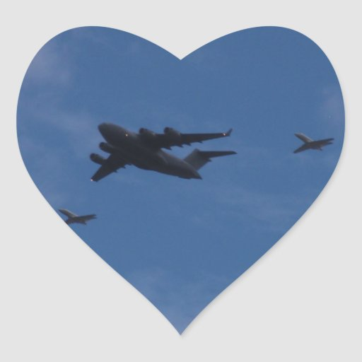 C17A Globemaster And BAE125 Heart Stickers