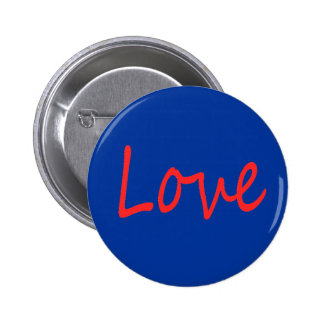 C23 RED LOVE BLUE BACKGROUND FEELINGS HAPPY RELATI PINBACK BUTTON