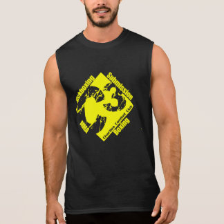 C3 Black Sleeveless with Yellow Gym Logo Sleeveless Shirt
