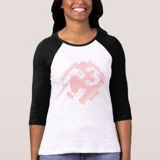 C3 Ladies 3/4 Black Sleeve with Pink C3 Logo T-Shirt