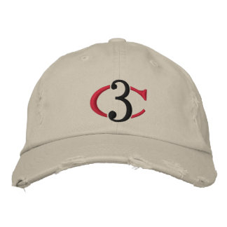 C3 Logo Distressed Chino Adjustable Hat