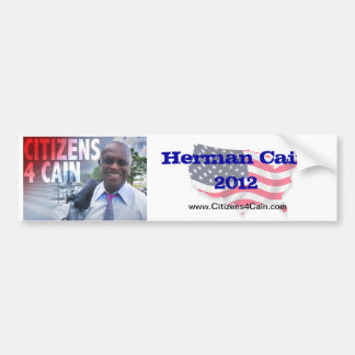C4C Herman Cain 2012 Bumper Sticker