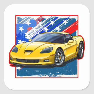 C6_Yellow Square Sticker