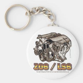C6 Z06 LS6 BASIC ROUND BUTTON KEY RING