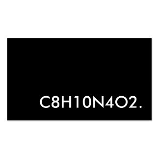 C8H10N4O2. caffeine structure Pack Of Standard Business Cards